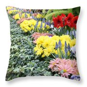 Lovely Flowers In Manito Park Conservatory Throw Pillow