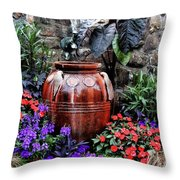 Lovely Garden  Throw Pillow