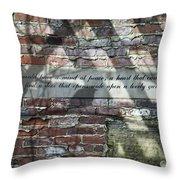 Lovely Garden Wall Throw Pillow