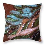 Lovely Hair Tile Throw Pillow