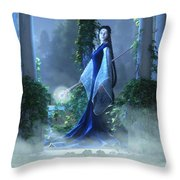 Lovely Is The Night Throw Pillow by Melissa Krauss