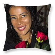 Lovely Lady 42 Throw Pillow