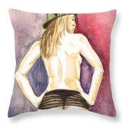 Lovely Latin Girls Throw Pillow
