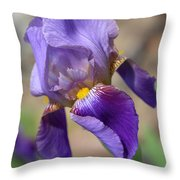 Lovely Leaning Iris Mother's Day Card Throw Pillow