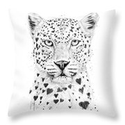 Lovely Leopard Throw Pillow