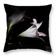 Lovely Lilies Dreams To Light Throw Pillow