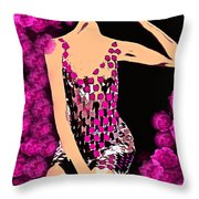 Lovely Luna Among The Roses C 1966 Throw Pillow