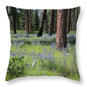 Lovely Lupine In The Mountains Throw Pillow