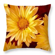 Lovely Mums Throw Pillow