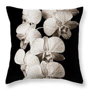 Lovely Orchid Cluster Throw Pillow