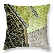 Lovely Patterns Of An Old School Interior Throw Pillow