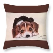 Lovely Pet Throw Pillow