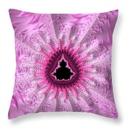 Lovely Pink Fractal Art Throw Pillow