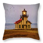 Lovely Point Cabrillo Light Station Throw Pillow