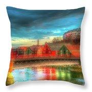 Lovely Trondheim Norway Throw Pillow