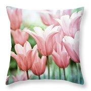 Lovely Tulips Throw Pillow