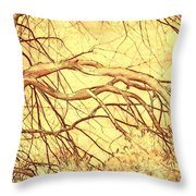 Lovely Twists In Nature Throw Pillow