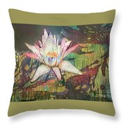 Lovely Waterlilies 2 Throw Pillow