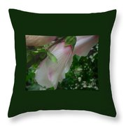 Lovely White And Pink Flowers Throw Pillow