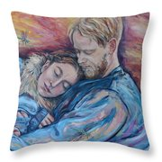 Lovers And Dragonflies Throw Pillow