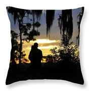 Lover's At Sunset Throw Pillow