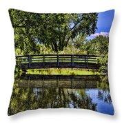 Lovers Bridge Throw Pillow