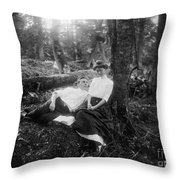 Lovers, C1900 Throw Pillow