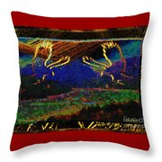 Lovers Dancing In The Golden Light Of Dawn Throw Pillow