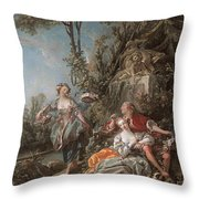 Lovers In A Park Throw Pillow