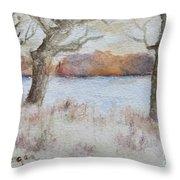 Lovers' Lake Throw Pillow