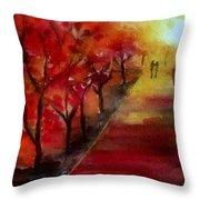 Lovers' Lane Throw Pillow