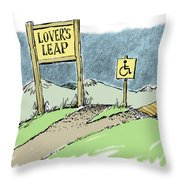 Lover's Leap. Throw Pillow