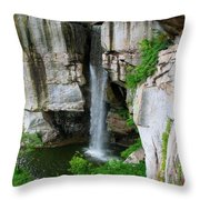 Lover's Leap Waterfall Throw Pillow
