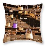 Lovers Locks 2 Throw Pillow