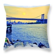 Lovers On The Rocks Throw Pillow by Madeline Ellis