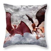 Lovers Quarrel Throw Pillow