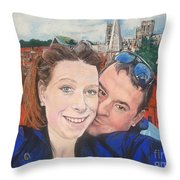 Lovers Selfie In York, England Throw Pillow