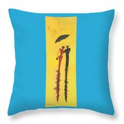 Walking In The Rain Is No2 Lovers Walk Series  Throw Pillow