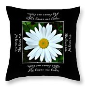 Loves Me Loves Me Lots Throw Pillow