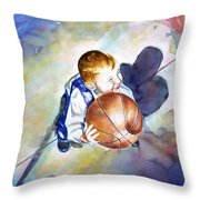 Loves The Game Throw Pillow