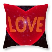 Loving Heart Throw Pillow