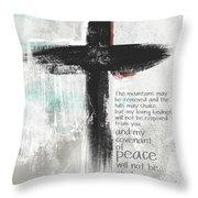 Loving Kindness Cross- Art By Linda Woods Throw Pillow