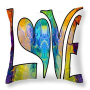 Loving Life Abstract Inspirational Artwork By Omaste Witkowski  Throw Pillow