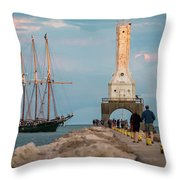 Loving Port Throw Pillow