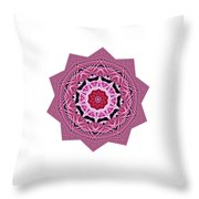 Loving Rose Mandala By Kaye Menner Throw Pillow