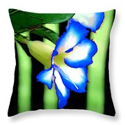 Loving The Color Blue Throw Pillow
