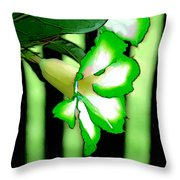 Loving The Color Green Throw Pillow