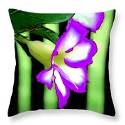 Loving The Color Purple Throw Pillow