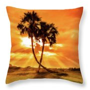 Loving Trees Throw Pillow
