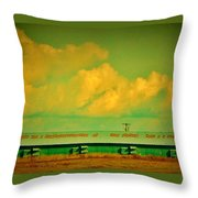 Low And Low Green Building Throw Pillow